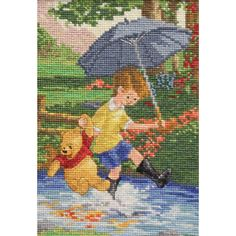 "Disney Dreams Collection By Thomas Kinkade Christopher Robin-5""X7"" 16 Count"