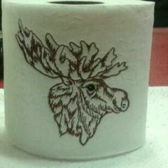 Embroidering on toilet paper