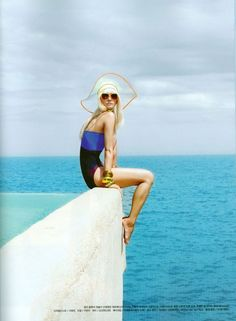 It is always summer, somewhere around the world. Gorgeous swimsuits and everything resort fashion!  Summer hat love