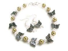 Butterfly Anklet FREE Earrings by elOelbOdyArt on Etsy, $15.00