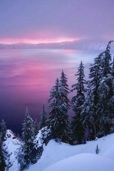 Winter Sunrise at Crater Lake by David Swindler Scenery Beautiful World, Beautiful Places, Landscape Photography, Nature Photography, Scenic Photography, Night Photography, Landscape Photos, Photography Tips, Winter Scenery