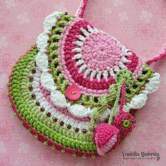 "Crochet pattern  purse Garden scene collection by VendulkaM, $5.30 So pretty - this is on my ""wish list"""