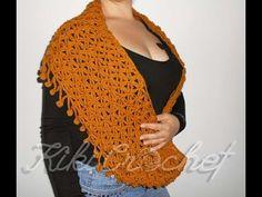 Crochet Flower of Life Infinity Scarf
