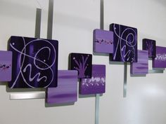 Beautiful Contemporary Abstract Floral Square by DivaArt69Studios, $200.00