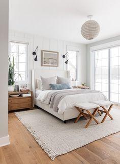 Room Design Bedroom, Room Ideas Bedroom, Home Decor Bedroom, Bedroom Furniture, Rustic Bedroom Design, Bedroom Designs, Rug For Bedroom, Costal Bedroom, Hamptons Bedroom