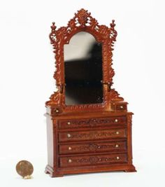 Victorian Bourbon Dresser with Real Mirror