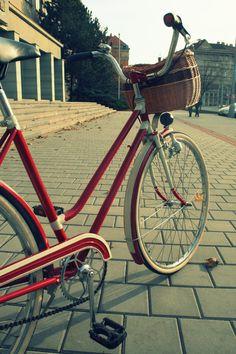 I love this retro bike (www.re-cycling.cz)