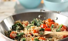 Discover quinoa, the super-grain, in this meatless meal.