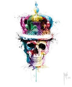 30 Mind-Blowing and Colorful Paintings by famous French artist Patrice Murciano Murciano Art, Patrice Murciano, Skull Artwork, Skull Wallpaper, Skulls And Roses, Arte Horror, Skull Design, Colorful Paintings, Skull Tattoos