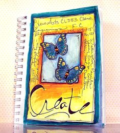 Goint to try this layout with my stamp pads.         Sketchbook Sunday with Jill Foster ~ Beautiful Butterflies! - Faber-Castell Design Memory Craft