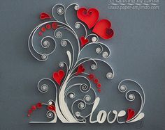 Quilling wall art Paper quilling art Love tree Quilling paper Wedding Anniversary The family love tree Framed Handmade Decor Design Gift Quilling Wandkunst Papierquilling Kunst Liebe von QuillingbyLarisa Quilled Paper Art, Paper Quilling Designs, Quilling Paper Craft, Quilling Patterns, Diy Paper, Quilling Jewelry, Paper Crafting, Quilling Tutorial, Art Tutorial