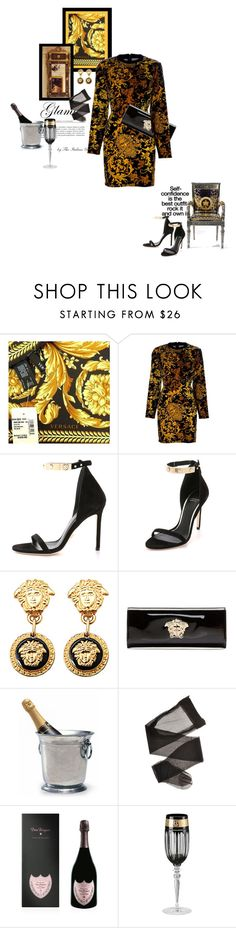 """""""Baroque"""" by theitalianglam ❤ liked on Polyvore featuring Versace, Match, Dom Pérignon, versace, baroque, fall2015, bytheitalianglam and theitalianglamfashionlab"""