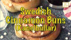 An authentic Swedish treat that you can easily make at home! Swedish Cinnamon Buns (Kanelbullar) are great for breakfast, snack or dessert! Scandinavian Recipes, Buns, Cinnamon, Canela, Po' Boy, Mixing Bowls