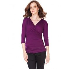 Orchid 3/4 Sleeve Ruched Top