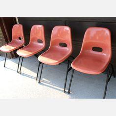Fiberglass Chairs Blush   by Krueger