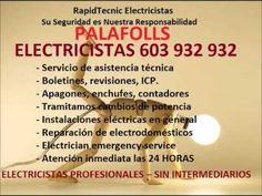 Electricistas PALAFOLLS 603 932 932 Baratos
