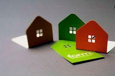 Originales tarjetas de visita arquitectos