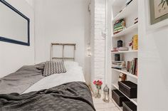 Small apartment bedroom space