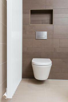 different tile color Small Toilet Room, Bathroom Toilets, Bathrooms, Color Tile, Bathroom Inspiration, Bathroom Ideas, Kitchen Tiles, Bathroom Interior, Decoration