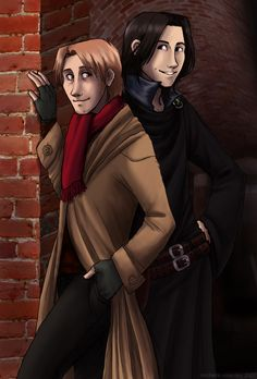 Sirius and Remus II by sockie on DeviantArt Remus And Sirius, Remus Lupin, Sirius Black, James Potter, Harry Potter Fan Art, Harry Potter Characters, Wolfstar, Mischief Managed, Fantastic Beasts