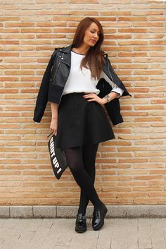 blog_fashion_ainatrendy_fashionblogger_streetstyle_biker_tintoretto_zapatosdesuelaancha_mango_bag_shutup_newcollection_skirt_díagris_lookrockero_trendy_0