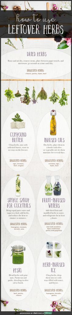 7 ways to use leftover herbs so you don't waste tasty ingredients. #seasoning