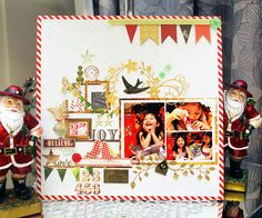 Joy - Websters Pages - All That Glitters Collection - Christmas - 12 x 12 Double Sided Paper - Newsletter