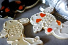 Koi Fish Sugar Cookies by SugarLaneBakeShop on Etsy