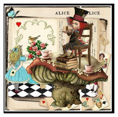 """""""Alice in Wonderland"""" by lubime ❤ liked on Polyvore featuring art"""