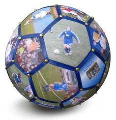 Photo Soccer Ball. This is really cool and smart! Creative!