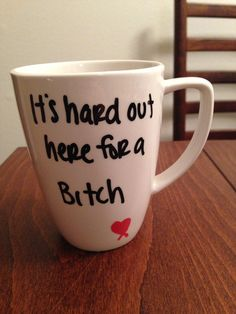 Lily Allen - Hard Out Here lyric mug