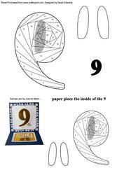 Number 9 (nine) Iris Folding Pattern