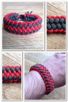 Everythingparacorduk: Dragon claw paracord bracelet.