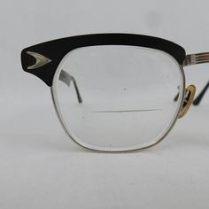 cbbae4881420 Vintage Black Aluminum Browline Glasses or Sunglasses by Bausch   Lomb -  MCM Atomic Frames