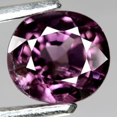 1.13CT.TWINKLING ! OVAL FACET PINK PURPLE NATURAL SPINEL SRI  LANKA #GEMNATURAL