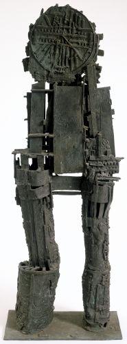 Eduardo Paolozzi (1924–2005, Britain),Japanese War God, 1958. Bronze, 163.83 x 55.88 x 33.02 cm. Albright-Knox Art Gallery, New York. © Estate of Eduardo Paolozzi / Artists Rights Society (ARS), New York. (AK-475pzars)