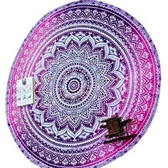 Elephant Mandala Round Roundie Beach Throw Indian Tapestry Hippie Yoga Mat Decor ** More info could be found at the image url. (This is an affiliate link) #Tapestries