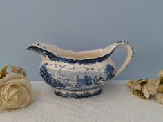 VINTAGE ROYAL WORCESTER 1790 BLUE AVON SCENES PALISSY GRAVY BOAT in Pottery, Porcelain & Glass, Porcelain/ China, Royal Worcester, Tableware | eBay
