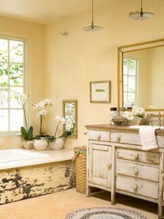 Lovely bathroom with beams I could live in here Bathroom ideas