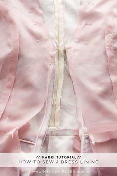 How to sew a dress lining // A Karri dress tutorial http://blog.megannielsen.com/2017/01/sew-dress-lining-karri-dress-tutorial/?utm_campaign=coschedule&utm_source=pinterest&utm_medium=Megan%20Nielsen%20Patterns&utm_content=How%20to%20sew%20a%20dress%20lining%20%2F%2F%20A%20Karri%20dress%20tutorial