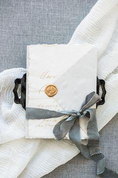 Silk Ribbon Tied around Wedding Invitations    #wedding #weddingideas #destinationwedding #hawaii #fineartweddings #stationery