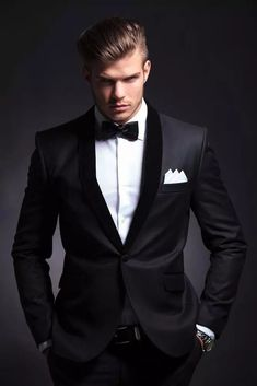 You will become such a outstanding man with 2016 best selling black mens wedding suits custom made slim fit wedding groom tuxedos for men groom suits bridegroom (jacket+pants+bowtie) offered by emily0628. Besides, DHgate.com also provide purple prom tuxedos tux with tail and tuxedos men. #menweddingsuits