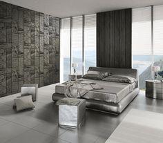 Nowoczesna, pełna światła sypialnia. Pomysł pochodzi z http://innetapety.pl/aranzacje-sypialni
