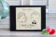 Esencia Custome: Libro de firmas personalizado para boda- Custom wedding guest book