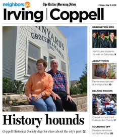 05/11: The past is a present priority for the Coppell Historical Society.  http://www.neighborsgo.com/stories/82890