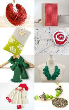 Portuguese green and red findings for Christmas by Filipa Fernandes on Etsy--Pinned with TreasuryPin.com #PTteamEtsy #ChristmasColorsProject #EtsyEurope #Portugal