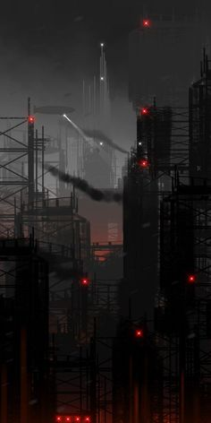 Cyberpunk Atmosphere Futuristic Future City Dark Future by Chris Spencer inspiration for the city of Perfects in my book The Imperfect One Ville Cyberpunk, Cyberpunk City, Arte Cyberpunk, Futuristic City, Cyberpunk Aesthetic, City Aesthetic, Urban Aesthetic, Scenery Wallpaper, Dark Wallpaper