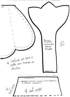 Moldes Para Artesanato em Tecido: Galinha Puxa Saco vermelha 6/6