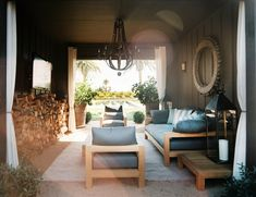 James Perse furniture in this Outdoor Lounge in Napa Valley by Hillary Thomas