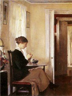 Josephine Knitting - Edmund Charles Tarbell